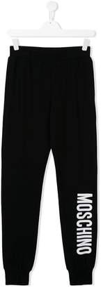 Moschino Kids printed logo sweatpants