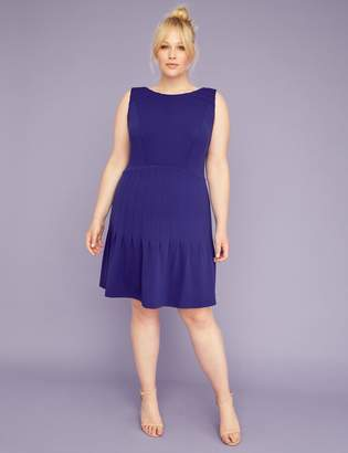 Lane Bryant Pleated Skirt Fit & Flare Dress