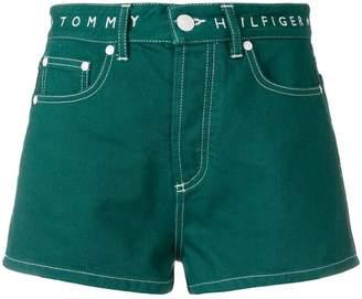 Tommy Hilfiger high waisted denim shorts