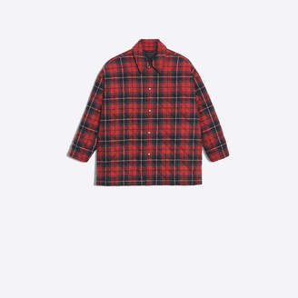 Balenciaga Cotton flannel checked shirt
