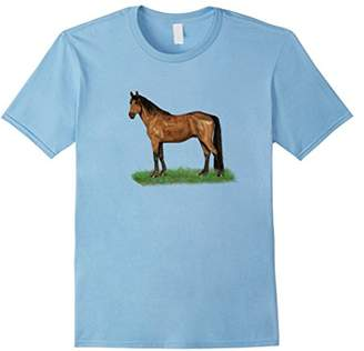 Single dark brown horse with black mane and tail T-shirt