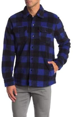 Levi's Faux Shearling Buffalo Checkered Work Shirt