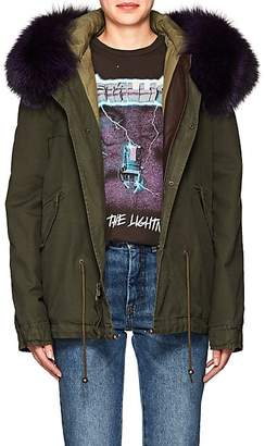 Mr & Mrs Italy Women's Fur-Trimmed Cotton Mini-Parka - Ldn Green