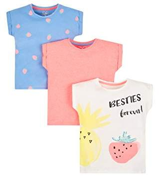 Mothercare Girl's 3 Pack T-Shirt,(Size: 116 cms)