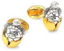 Jan Leslie Sterling Silver Hatching Turtle Cufflinks