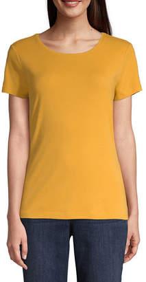 ST. JOHN'S BAY Short Sleeve Crew Neck T-Shirt-Womens