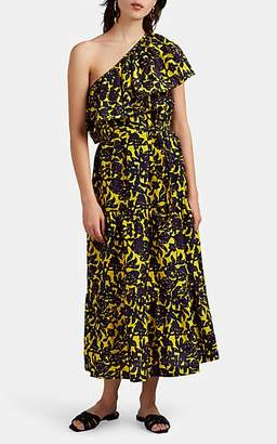 A.L.C. Women's Naomi Floral Cotton-Silk One-Shoulder Dress - Yellow