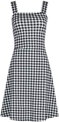 Dorothy Perkins Womens Black Gingham Tie Strap Fit And Flare Dress