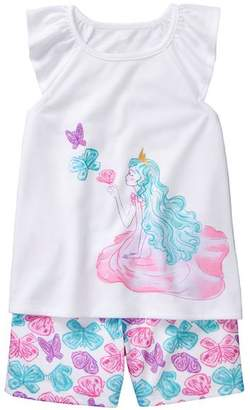 Gymboree Fairy 2-Piece Shortie Pajamas