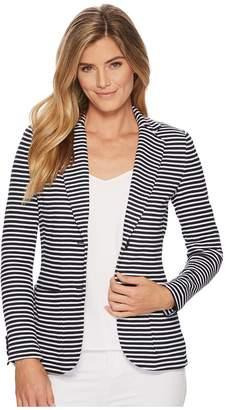 Lauren Ralph Lauren Striped Knit Cotton Jacket Women's Coat