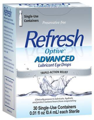 Refresh Optive Advanced Lubricant Eye Drops Single Use Containers $17.99 thestylecure.com