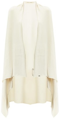 Extreme Cashmere - Knitted Cashmere Blend Cape - Womens - Cream