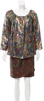 Oscar de la Renta Patterned Two-Piece Skirt Set