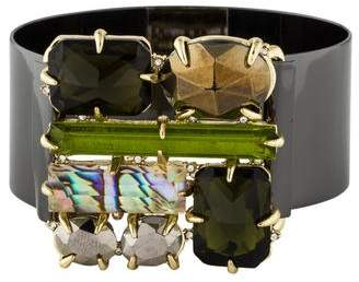 Alexis Bittar Crystal & Abalone Doublet Bracelet