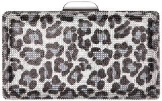Nina Exotica Leopard Crystal Minaudiere Clutch