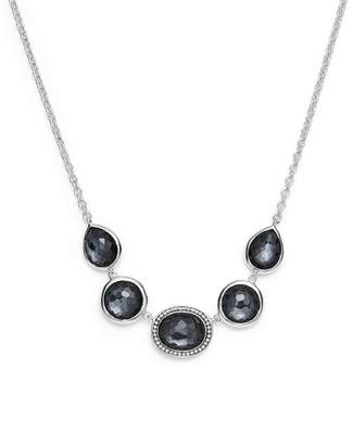 Ippolita Sterling Silver Lollipop® Necklace in Hematite Doublet with Diamonds, 16""