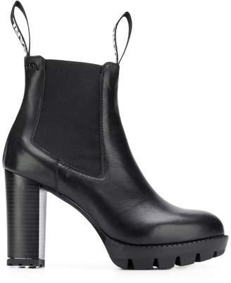 Karl Lagerfeld Paris platform ankle boots