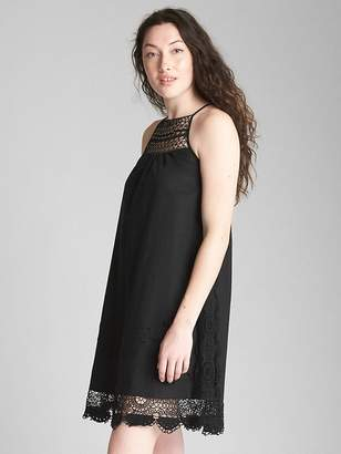 Gap Crochet Cami Dress in Linen-Cotton