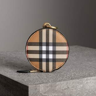 Burberry Vintage Check and Leather Coin Case