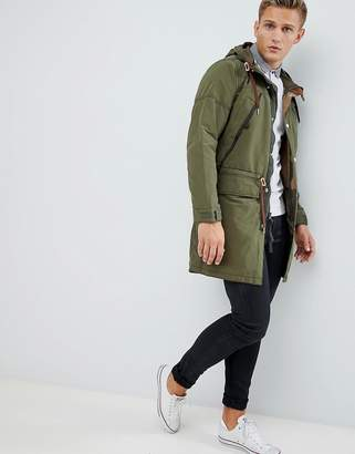 Abercrombie & Fitch lightweight hooded parka in khaki