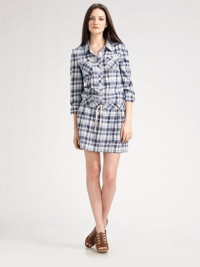 Juicy Couture Plaid Shirtdress
