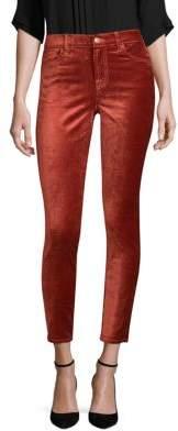 7 For All Mankind Velvet Ankle Skinny Pants