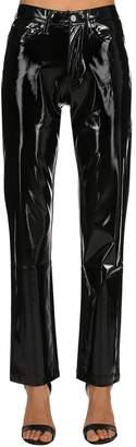 Calvin Klein Jeans Vinyl Mid Rise Straight Pants