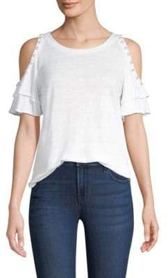 Generation Love Luna Pearls Cold-Shoulder Top