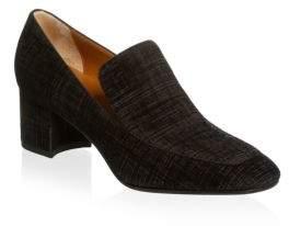 Aquatalia Jilianne Block Heel Loafers