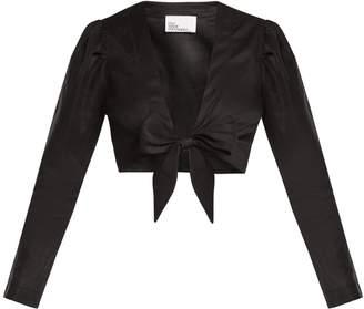 Lisa Marie Fernandez Puff-sleeve linen blouse