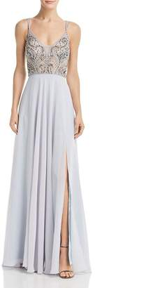 fadc148d Aqua Embellished Chiffon Gown - 100% Exclusive