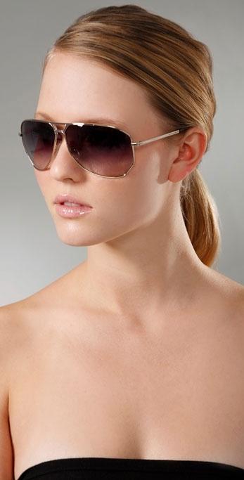 Stella McCartney Sunglasses Octagon Aviators