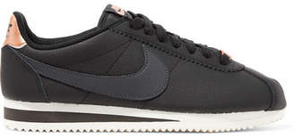 Nike Classic Cortez Textured-leather Sneakers - Black
