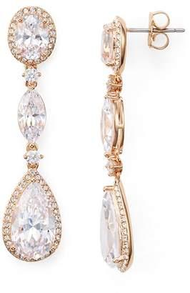 Nadri Oval, Marquis & Pear Shaped Drop Earrings