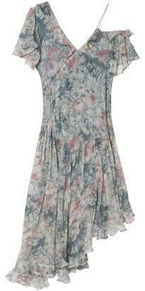 Zimmermann Cavalier Asymmetric Floral-Print Silk-Georgette Dress