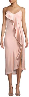 Mestiza New York Natalia Velvet Ruffle Midi Slip Dress