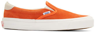 Vans Orange Suede OG 59 LX Slip-On Sneakers