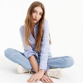 J.Crew Petite slim perfect shirt in cross-dyed Irish linen