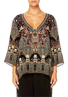Camilla Chamber Of Reflections V-Neck Oversized Blouse