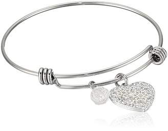 Disney Stainless Steel Adjustable with Silver Plated Crystal I'll Be Your Mickey
