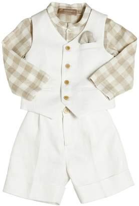 La Stupenderia Linen Shirt, Vest & Shorts