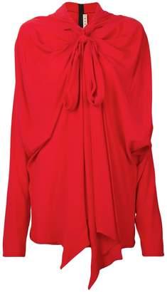 Marni shawl pussy bow blouse