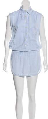 Thakoon Chambray Embroidered Romper