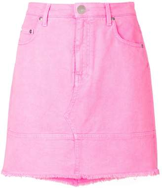 MSGM raw edge mini skirt