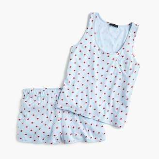 J.Crew Short-sleeve cotton pajama set in stars