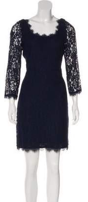 Diane von Furstenberg Long Sleeve Lace Dress