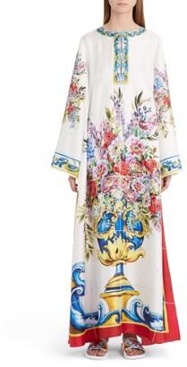 Women's Dolce&gabbana Print Silk Caftan $2,675 thestylecure.com