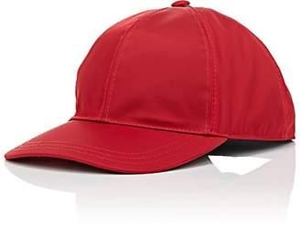 Prada Women's Logo Twill Baseball Cap - Red