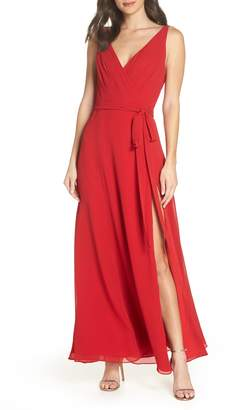 Fame & Partners The Dinah Georgette Wrap Gown
