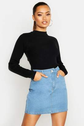 boohoo Ribbed Turtle Neck Sweater
